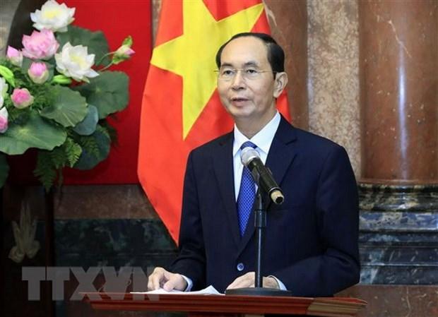 Des dirigeants etrangers rendent hommage au president Tran Dai Quang hinh anh 1