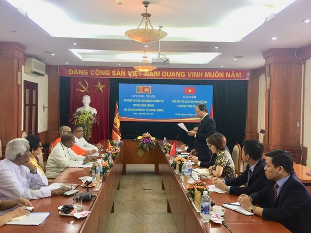Vietnam et Sri Lanka promeuvent leur cooperation en matiere religieuse hinh anh 1