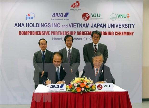 L'Universite Vietnam-Japon et ANA Holdings signent un accord de cooperation integrale hinh anh 1