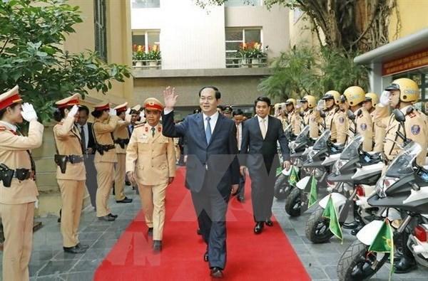 Le general Tran Dai Quang, un commandant en chef toujours attache a la Police populaire hinh anh 1