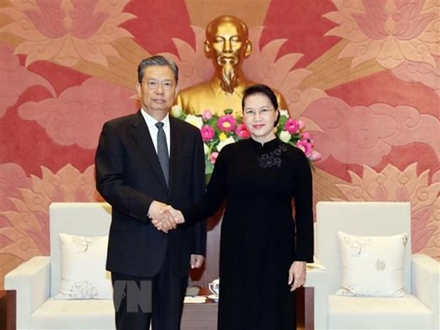 La presidente de l'AN recoit un dirigeant chinois hinh anh 1