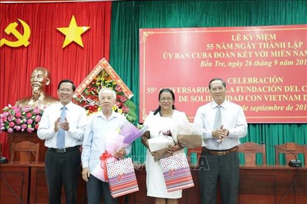 Celebration des 55 ans du Comite cubain de solidarite avec le Sud Vietnam hinh anh 1