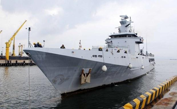 Un navire de la marine bruneienne en visite de courtoisie a Da Nang hinh anh 1