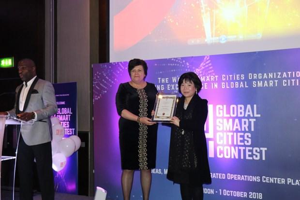 Une entreprise vietnamienne primee au concours Global Smart Cities 2018 hinh anh 1