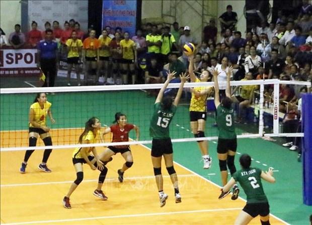 Cloture du tournoi international de volley-ball - Coupe de la Television de Vinh Long hinh anh 1