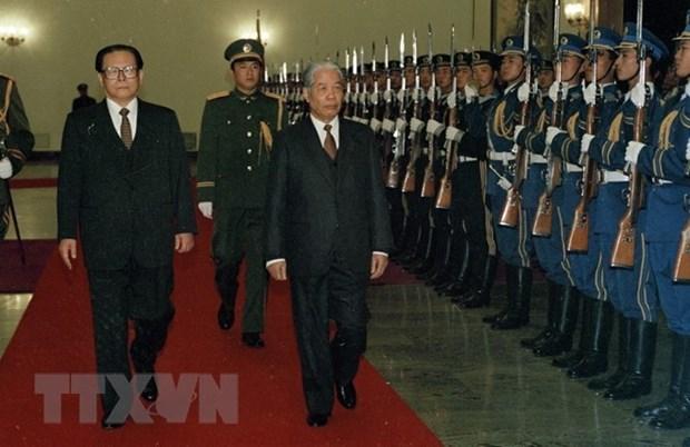 Le secretaire general du Parti Do Muoi et ses traces dans les activites exterieures hinh anh 1