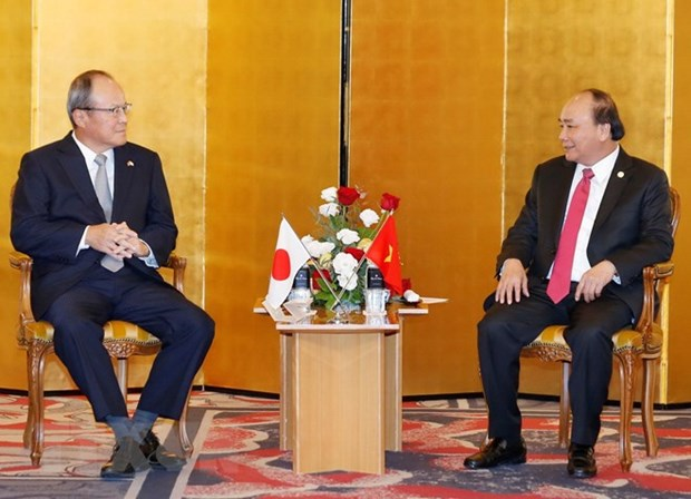 Le PM Nguyen Xuan Phuc recoit un certain nombre de grandes entreprises japonaises hinh anh 1