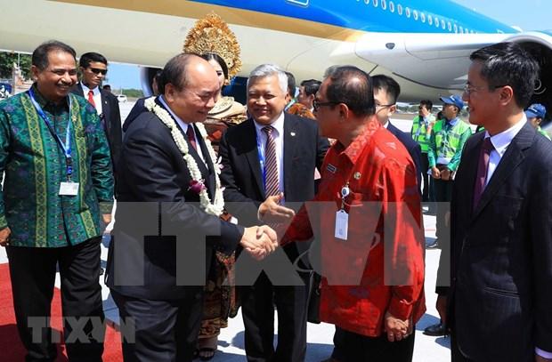 Le Premier ministre Nguyen Xuan Phuc est arrive a Bali, en Indonesie hinh anh 1