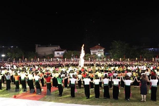 Des milliers de personnes a la fete de Muong Lo hinh anh 1