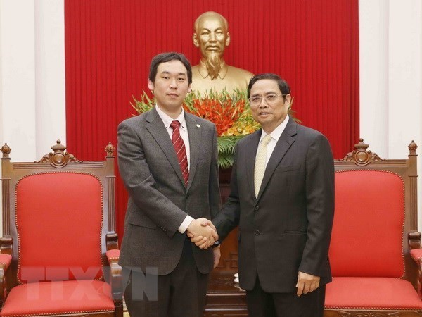 Une delegation du Parti communiste japonais en visite au Vietnam hinh anh 1