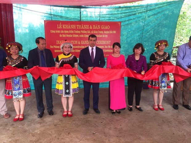 Inauguration d'une ecole primaire construite avec l'aide azerbaidjanaise a Ha Giang hinh anh 1
