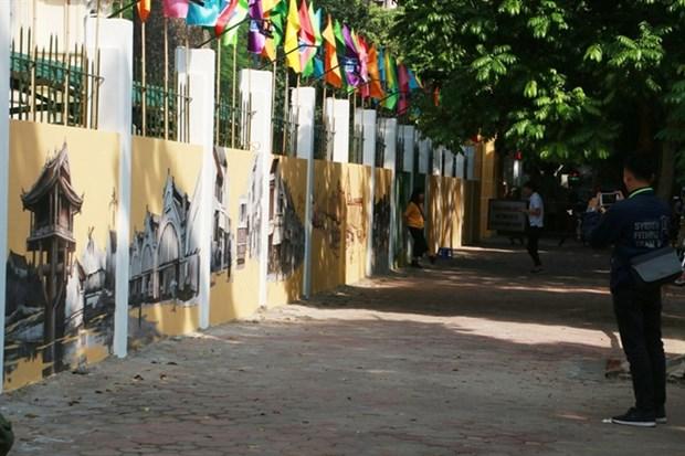 Des peintures murales font revivre Hanoi d'antan hinh anh 1
