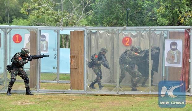 Premier exercice conjoint entre la Chine, la Malaisie et la Thailande hinh anh 1