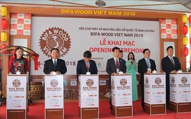 Une foire internationale de l'industrie du bois s'ouvre a Binh Duong hinh anh 1