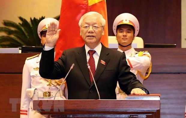 Felicitations au nouveau president Nguyen Phu Trong hinh anh 1