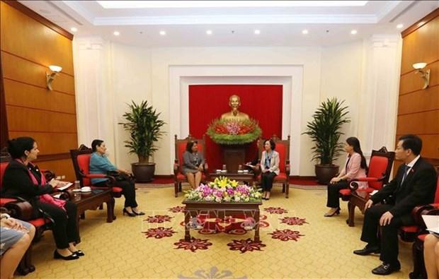 Vietnam-Cuba : pour promouvoir la cooperation dans le travail des femmes hinh anh 1