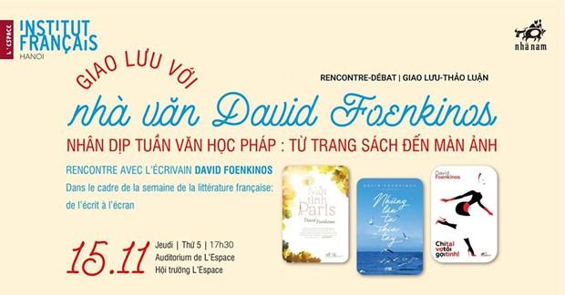Semaine de la litterature francaise «De l'ecrit a l'ecran» a l'Institut francais de Hanoi hinh anh 1