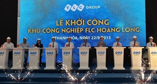 Mise en chantier de la zone industrielle FLC Hoang Long hinh anh 1