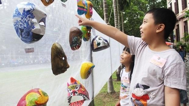 Les masques traditionnels en papier mache hinh anh 1