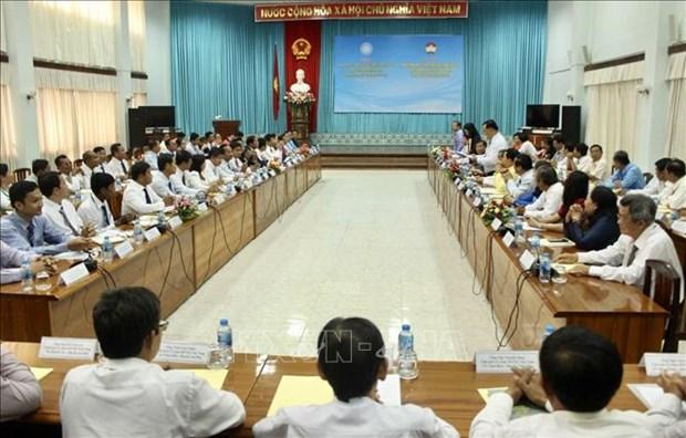 Des localites vietnamienne et cambodgienne s'unissent pour construire une frontiere de paix hinh anh 1