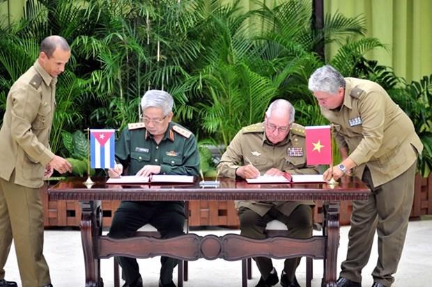 Dialogue Vietnam - Cuba sur la politique de defense hinh anh 1