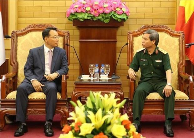 Une delegation d'officiers de l'armee sud-coreenne en visite d'amitie au Vietnam hinh anh 1