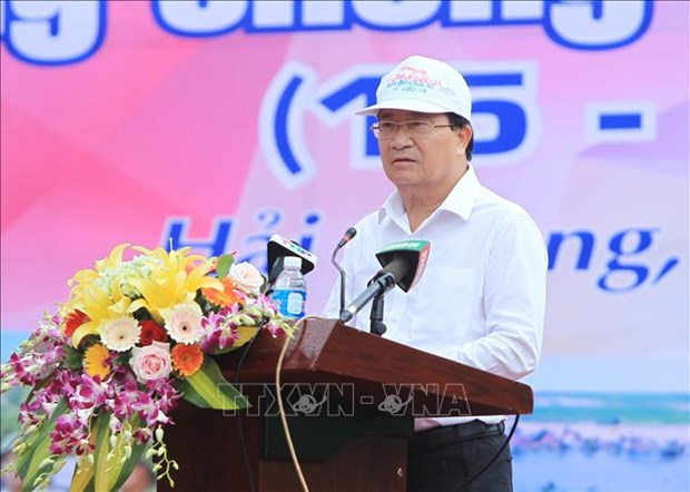 Lancement de la Semaine nationale de la prevention des catastrophes a Hai Phong hinh anh 1
