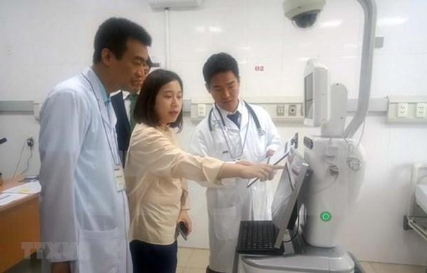 Essais cliniques de robot a l'hopital pour enfants de Hai Phong hinh anh 1