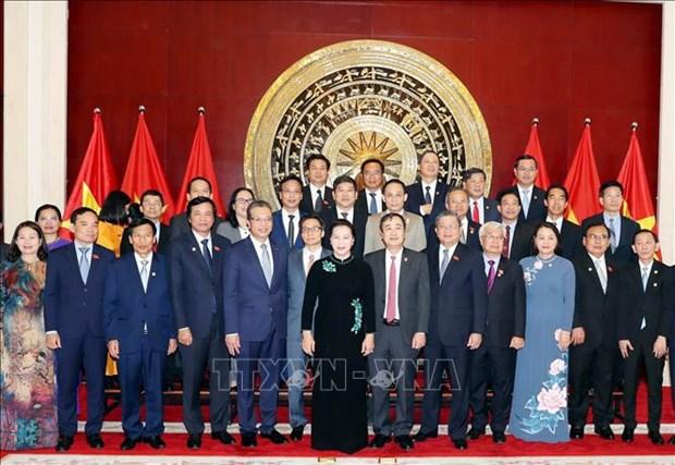 La presidente de l'AN Nguyen Thi Kim Ngan rencontre la communaute vietnamienne en Chine hinh anh 1