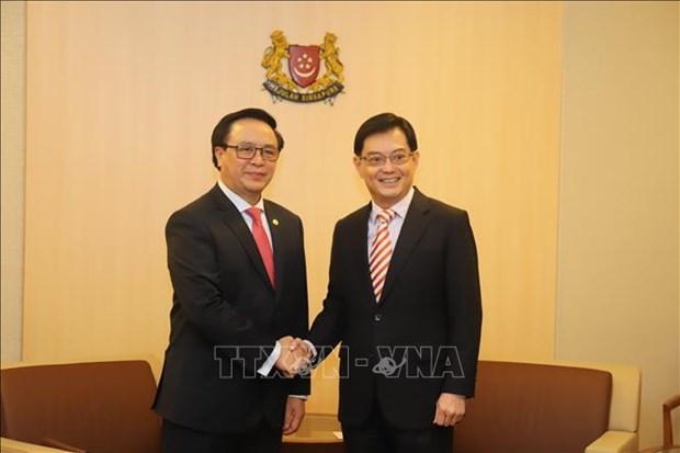 Singapour reaffirme la promotion des liens economiques avec le Vietnam hinh anh 1