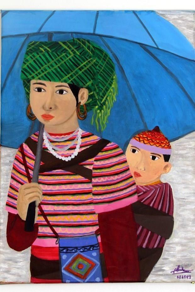Une peinture d'une artiste malentendante vietnamienne exposee en Italie hinh anh 1