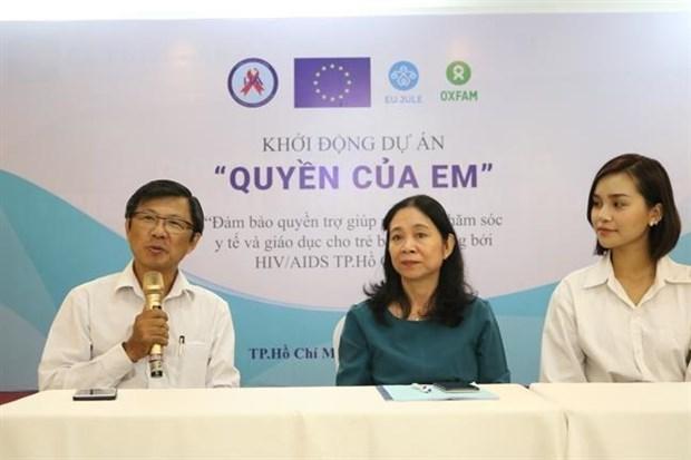 Un projet pour aider les enfants seropositifs lance a HCM-Ville hinh anh 1