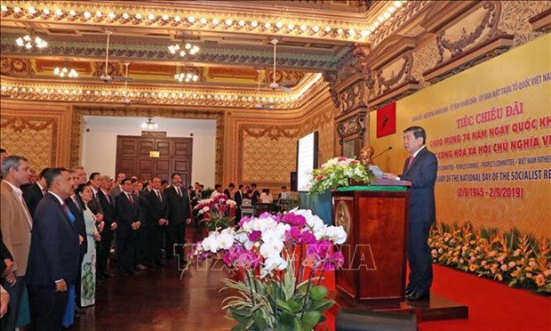 Ho Chi Minh-Ville donne une reception en l'honneur de la Fete nationale hinh anh 1