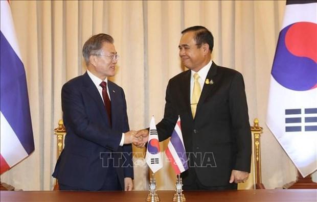 Le president sud-coreen entame son voyage en Asie du Sud-Est hinh anh 2