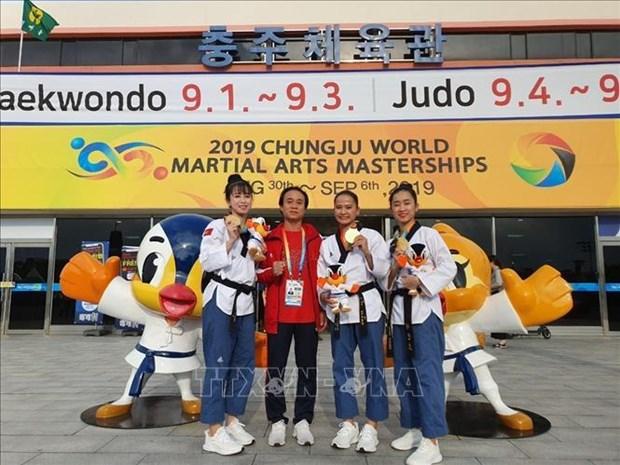 Le taekwondo vietnamien remporte la premiere medaille d'or au Festival mondial des arts martiaux hinh anh 1