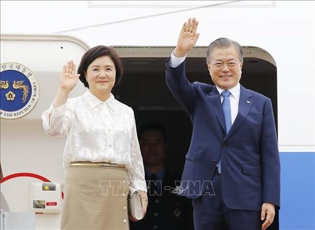 Le president sud-coreen entame son voyage en Asie du Sud-Est hinh anh 1