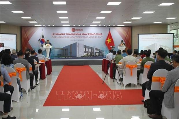 Une usine sud-coreenne de composants automobiles inauguree a Ninh Binh hinh anh 1