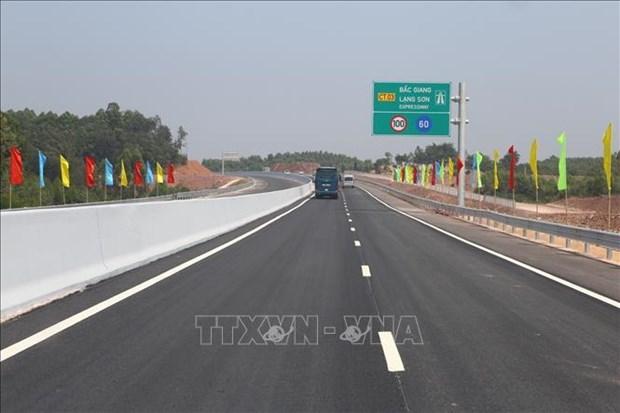 Un troncon de l'autoroute Bac Giang – Lang Son ouvert au trafic hinh anh 2