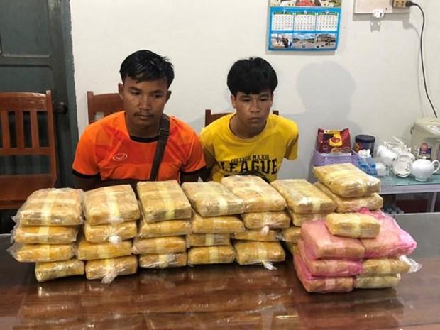 Quang Tri: la plus grande quantite de stupefiants saisis a la frontiere Vietnam – Laos hinh anh 1