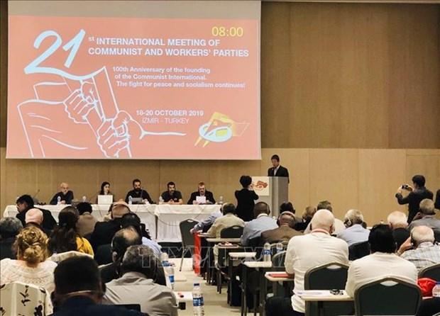 Le Vietnam a la 21e Rencontre internationale des partis communistes et ouvriers hinh anh 1