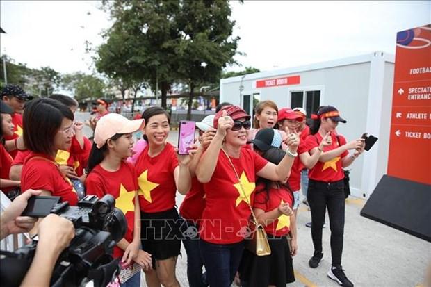Football : Le Onze vietnamien debute les Jeux d'Asie du Sud-Est avec une victoire ecrasante hinh anh 2