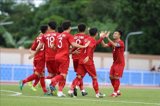 Football : Le Onze vietnamien debute les Jeux d'Asie du Sud-Est avec une victoire ecrasante hinh anh 1