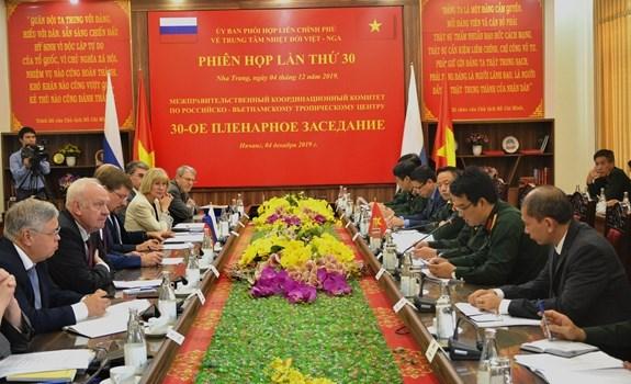 Reunion du Comite de coordination intergouvernemental pour le Centre tropical vietnamo-russe hinh anh 1