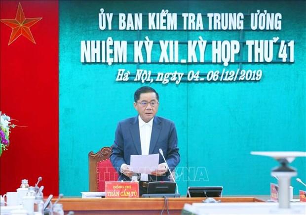 La Commission du controle du Comite central du Parti tient sa 41e reunion hinh anh 1