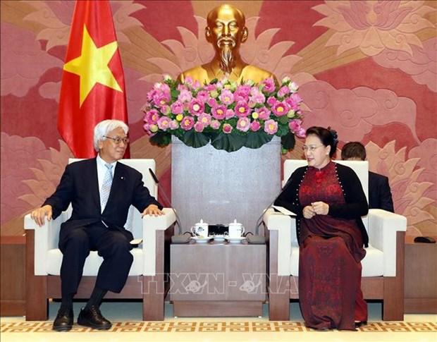 La presidente de l'AN recoit une delegation de la Chambre des conseillers du Japon hinh anh 1
