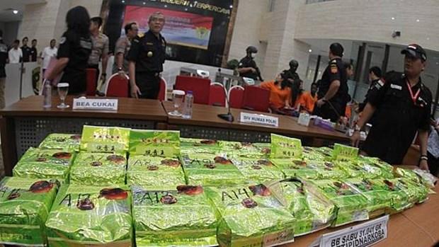 L'Indonesie demantele un important reseau de trafic de drogue hinh anh 1