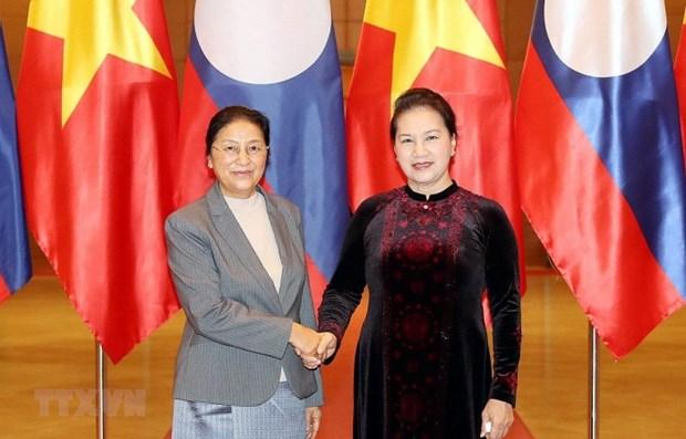 Entrevue entre les presidentes de l'Assemblee nationale du Vietnam et du Laos hinh anh 1