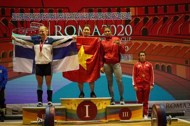 Coupe du monde d'halterophilie: dix medailles d'or pour le Vietnam hinh anh 1
