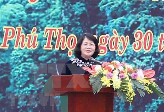 Lancement de la Fete de plantation d'arbres aux temples des rois Hung a Phu Tho hinh anh 1