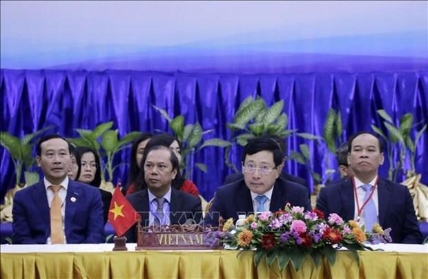 COVID-19 : Les ministres des Affaires etrangeres de l'ASEAN discutent des mesures anti-epidemiques hinh anh 1